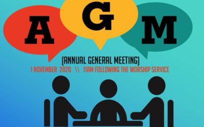 Church AGM 1st November